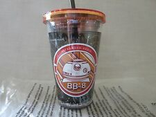 DISNEY PARKS STAR WARS FORCE AWAKENS BB-8 COLD CUP TUMBLER WITH STRAW BRAND NEW