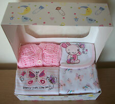 Newborn Baby Girls Clothes Gift Pink Butterfly Bunny Baby Shower New Baby Girl