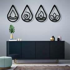 Metal Wall Art Four Elements Metal Decor Housewarming Gift Interior Decor 5398