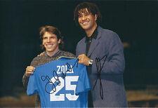 Gianfranco ZOLA & Ruud GULLIT SIGNED COA Autograph 12x8 Photo AFTAL CHELSEA RARE