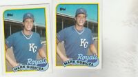 FREE SHIPPING-MINT-1989 TOPPS  #430 MARK GUBICZA ROYALS-2 CARDS