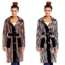 Herbsten Trenchcoat-Stil ohne Muster mit Damenjacken & -mäntel