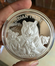 100 GRAMS 999 SILVER INDIAN TIGER COIN  by SILVERA manufacured by MMTC PAMP