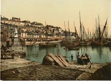 Brixham. PZ Vintage Photochromie, England photochromie, vintage photochrome