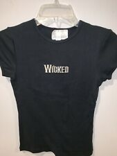NWOT Broadway Musical WICKED Embroidered Black T-shirt Authentic Womens Small