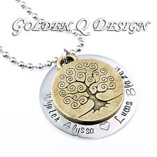 Personalised Any Name Vintage Family Tree Necklace Valentines Birthday Gift D190