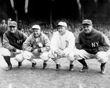 Babe Ruth, Lou Gehrig, Tris Speaker & Ty Cobb Unsigned Photo-K9307-en 1928