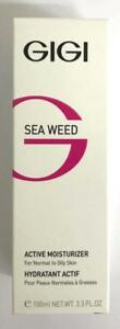 GIGI Cosmetics SEA WEED Active Moisturizer 100ml Normal To oily Skin Israel New