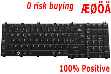 For Toshiba Satellite L650D L750 L750D L775D L750-21N Keyboard Danish Nordic SE