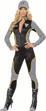 SEXY NASCAR RACE CAR GIRL CATSUIT HALLOWEEN COSTUME Black -Small/Medium