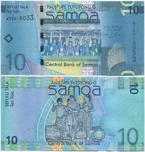 Samoa 10 Tala 2008 UNC P-39a