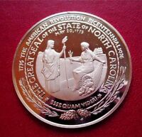 NORTH CAROLINA - Official Sterling Silver PROOF Bicentennial Medal
