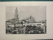 c1890 ANTIQUE PRINT ~ KIEV ~ UKRAINE