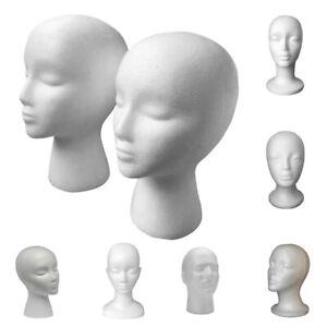 Display Stand Styrofoam Foam Mannequin Female Head Model Dummy Wig Glasses Head