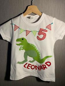 GeburtstagsShirt T-Shirt T-REX/Dino, personalisierbar mit Namen, ab Gr.92 Neu