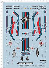 1/24 Martini Porsche 935 Turbo Model Kit Water Decal