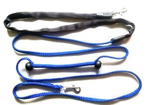 Joggingleine, Jogging-Zugleine 3,5m 1 Hund,Ruckdämpfer,Schlauchband - handarbeit