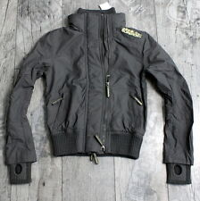 Superdry Damen Gr. XS Technical WINDCHEATER Jacke Netz Grau Gelb A781