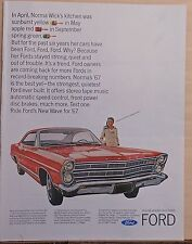1967 magazine ad for Ford - '67 Ford, Ride Ford's New Wave for '67