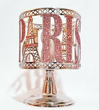 Bath & Body Works PINK PARIS EIFFEL TOWER 3-Wick Candle Holder Pedestal SLEEVE