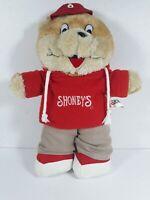 """Shoney's Restaurant """"Shoney Bear"""" Plush 12"""" Bear Hoodie & Khaki Pants 2007 Retro"""