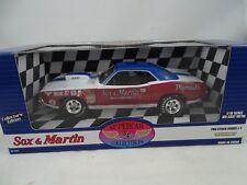 1:18 Ertl Supercar Coll. #29168P 1970 Cuda Sox & Martin Pro Stock Série #1 Rare
