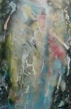 Modernist LARGE ABSTRACT PAINTING Expressionist MODERN ART BACK IN TIME FOLTZ