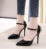 Womens Pointed Toe High Heels Sandal Fashion Ankle Buckle Stilettos Office Shoes
