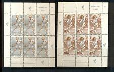 New Zealand #B85a-86a  (1972 Sports - Tennis Health sheets) VFMNH CV $19