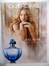 PUBLICITE-ADVERTISING :  GUERLAIN Shalimar,Parfum  2015 Natalia Vodianova