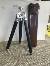 Vintage Bilora Telescoping Travel Tripod w/ Leather Case