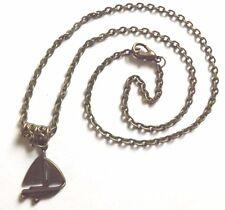 collier chaine bronze 51 cm avec pendentif voilier 25x18 mm
