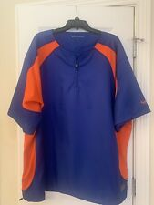 Boombah 4xl Explosion Pullover Orange And Blue With Drawstring And Zip Side