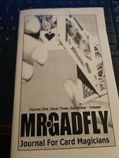 Mr. Gadfly Volume 1 Issue 3 Journal for Card Magicians Aaron Smith