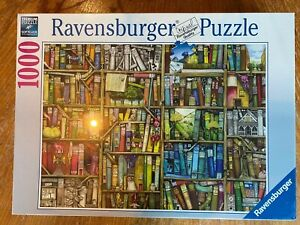 "Ravensburger Puzzle ""Magical Library"", 1000 Pieces # 191376, 2012 Bookshop NEW"