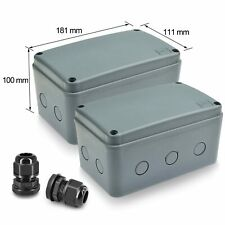 Plastic Junction Box Waterproof Electronic Project Enclosure Case 181111100mm