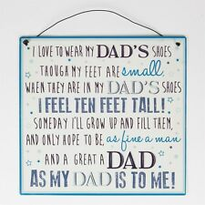 Sentimental  'My Dad's Shoes' Father's Day Gift Metal Wire Hanging Plaque Sign