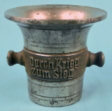 German Germany Ww1 1914-1916 Commemorative Metal Mortar