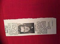 m12r ephemera 1969 film article the passing of actor wendell corey