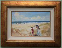 Irish Art Original Oil Painting A DAY ON THE BEACH by RACHEL GRAINGER HUNT
