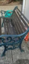 More details for wrought iron/wood garden bench