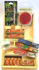 Smokers Wooden Stash Rolling Box Juicy Jays King Size RAW Papers Grinder Pipe
