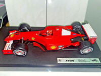 2001 Hot Wheels Racing 1/18 Scale Diecast Ferrari F2001 Michael Schumacher F1