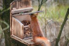 Eichhörnchen Futterhaus-Futterstation-Futterautomat geflammt,große Sitzplattform
