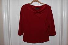Donna Ricco New York 2 Piece Red Asymmetrical Blouse & Skirt Set Size 10 NWOT