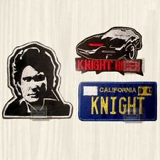 Knight Rider Patches Set Kitt Logo Tv Series Michael Car Industries Embroidered