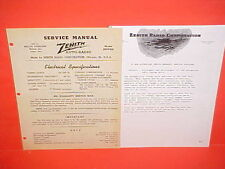 1942 WILLYS OVERLAND AMERICAR SPEEDWAY COUPE JEEP ZENITH AM RADIO SERVICE MANUAL