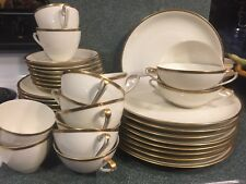 Eschenbach Bavaria Germany Gold Cornelia 39 Pc. Set - Plates, Bowls, Cups