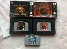 Mortal Kombat Nintendo 64 N64 BUNDLE TRILOGY 4 SUB ZERO MYTHOLOGIES BOXED RARE
