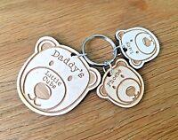 Personalised Christmas Gifts For Dad Grandad Grandma Mum Nan Bear Keyring Gifts